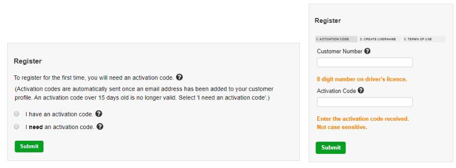 How to sign up for MySGI - Register screen